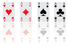The four aces of the poker game Stock Photo