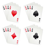 Four aces poker Stock Photos