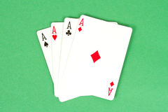 Four Aces Poker Hand Royalty Free Stock Photos