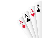 Four Aces Poker Hand Stock Photo