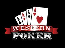 Four Aces. Poker icon. Four aces. Casino Poker Cards on black background. Vector file available Royalty Free Stock Photos
