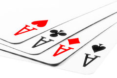 Four aces in poker - Kare Royalty Free Stock Photography
