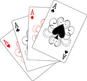 Four aces poker playing cards royalty free illustration