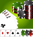 Four aces poker vegas Royalty Free Stock Image