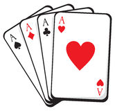 Four aces. vector illustration Stock Images