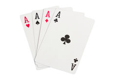 Four Aces on white Stock Image