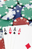 Four aces for win Royalty Free Stock Image