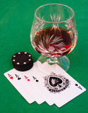 Four aces: A winning hand Royalty Free Stock Photos