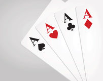 Four aces. Winning poker hand with four aces Stock Photos