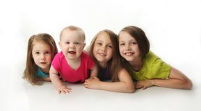 Four adorable young sisters Royalty Free Stock Photo
