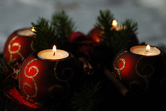 Four advent candle Royalty Free Stock Images
