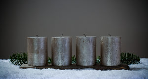 Four advents candles cleared without fire Royalty Free Stock Images