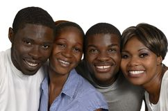 Four african Friends in joy Royalty Free Stock Image