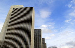 The four Agency buildings numbered 1-4, set in The Empire State Plaza, Albany, New York, 2017 Royalty Free Stock Photos
