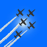 Four aircraft in sky Royalty Free Stock Photography