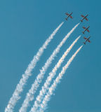Four aircrafts at air show Stock Images