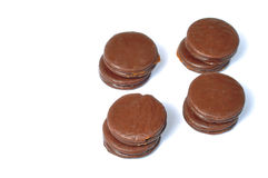 Four alfajores Stock Photo