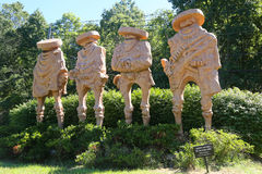 `The Four Amigos` sculpture by artist Garret McFann in Hamilton, NJ Stock Image