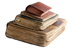 Four ancient books isolated Royalty Free Stock Photos