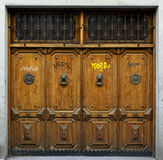 Four ancient doors, painted graffiti Stock Photography