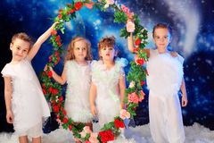 Four angels Stock Images