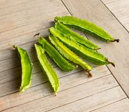 Four angle beans Stock Photography