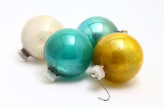 Four antique Christmas ornaments Royalty Free Stock Photography