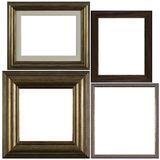 Four antique picture frames Royalty Free Stock Photography