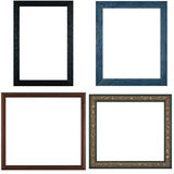 Four antique picture frames Royalty Free Stock Photos