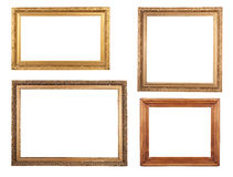 Four antique picture frames. Royalty Free Stock Image