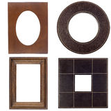 Four antique picture frames stock photos