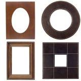 Four antique picture frames Stock Photos