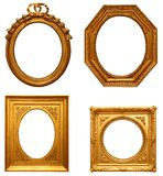 Four antique picture frames. Four empty antique picture frames Royalty Free Stock Photography