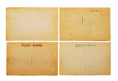 Four antique postcards Royalty Free Stock Images