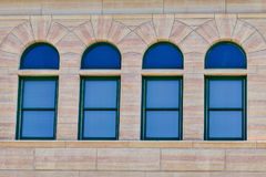 Four antique windows Stock Photo