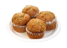 Four apple spice muffins Royalty Free Stock Photos