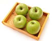 Four apples Royalty Free Stock Image