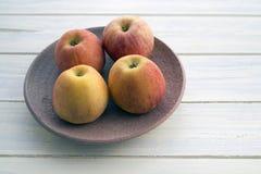 Four apples Stock Photo