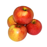 Four apples on a white background Stock Photo