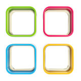 Four applet copyspace colorful boxes Royalty Free Stock Image