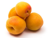 Four apricot Royalty Free Stock Photography