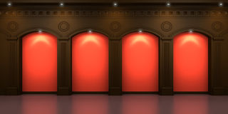 Four arched niches Royalty Free Stock Photo