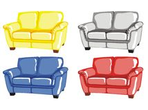 Four armchairs Stock Image