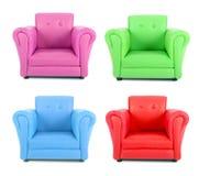 Four armchairs stock photos