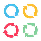 Four arrow reload icons. Four colorful arrow reload icons Royalty Free Stock Images