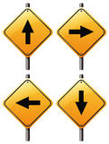 Four arrow signs Stock Photo