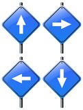 Four arrow signs royalty free illustration