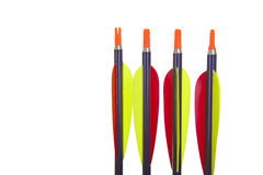 Four arrow tips in closeup Royalty Free Stock Photo