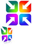 Four arrows. Isolated illustrated gradient design Stock Photos