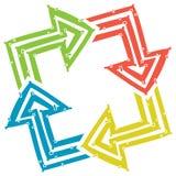 Four arrows Royalty Free Stock Photo